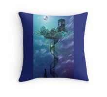 Blue Box in the Victorian Sky Throw Pillow