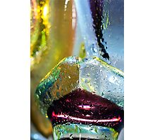 Abstract background. Glass and drops of water. Photographic Print