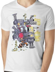 Rocket Racoon Mens V-Neck T-Shirt