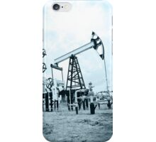 Pump jack and oilwell. iPhone Case/Skin