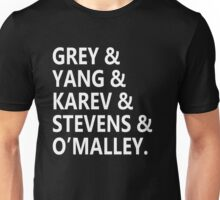 Grey's Anatomy - Cast names Unisex T-Shirt