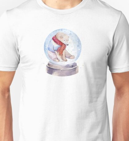 Bear Snow globe Unisex T-Shirt