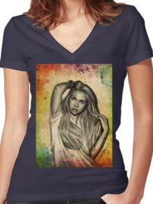 Hayley Kiyoko Women's Fitted V-Neck T-Shirt