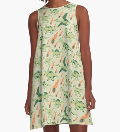 Dino Disaster A-Line Dress