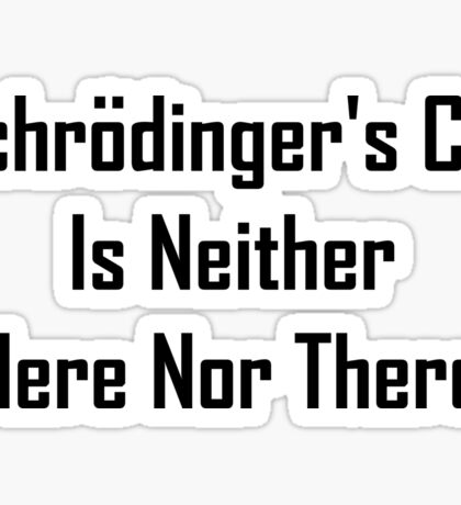 Schrodinger's Cat Is Neither Here Nor There Sticker