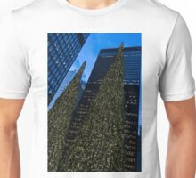 Christmas Trees Taller Than Buildings Left Unisex T-Shirt