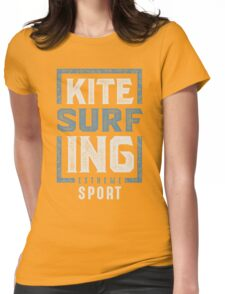 Kitesurfing Typography Womens Fitted T-Shirt