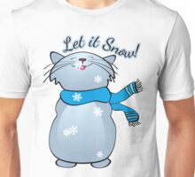 Let it Snow Cat Unisex T-Shirt