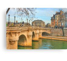 Pont Neuf .. Oldest Bridge Across The Seine Canvas Print