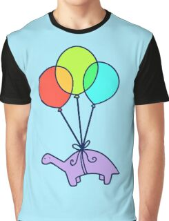 Balloon Dinosaur Graphic T-Shirt