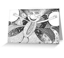 The joyful butterfly Greeting Card