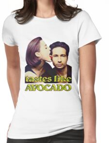 David tastes like avocado Womens Fitted T-Shirt