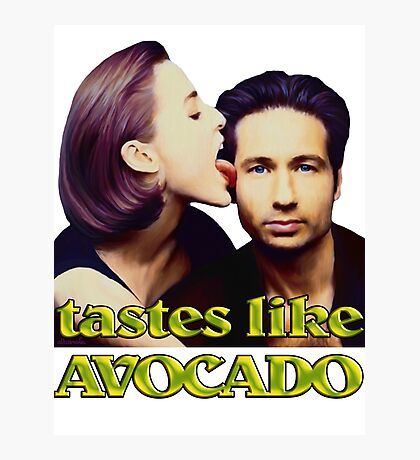 David tastes like avocado Photographic Print