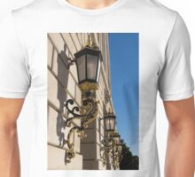Gilded Lanterns - Washington, DC Facades - Federal Triangle Neighborhood Unisex T-Shirt