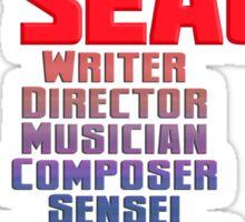 Steven Seagal - Multitasker T-Shirt Sticker