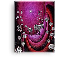 Zebra Lair Canvas Print