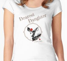 Deer Younger Daughter - I love my dear family Women's Fitted Scoop T-Shirt