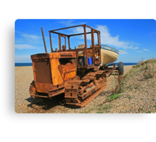 On Weybourne Beach Canvas Print