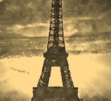 Vintage Paris Eiffel Tower Sticker