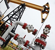 pumpjack and oilwell. by bashta