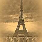 Vintage Paris Eiffel Tower #2 by Nhan Ngo