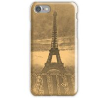 Vintage Paris Eiffel Tower #2 iPhone Case/Skin