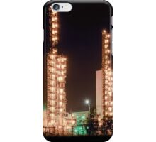 Grangemouth refinery at night iPhone Case/Skin