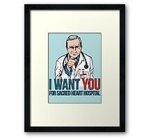 Kelso Wants You! Framed Print