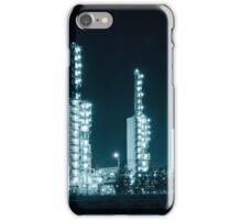 Grangemouth refinery at night iPhone Case/Skin