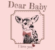 Deer Baby Son - I love my dear family Kids Tee