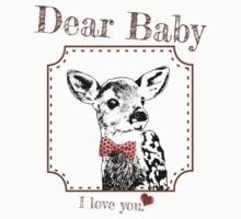 Deer Baby Son - I love my dear family Kids Tee