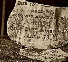 In loving memory of Thomas...and his beloved wife Rose by Karen Tregoning