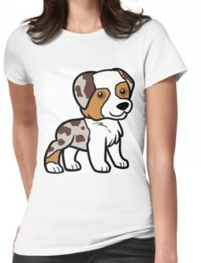 MAS red merle cartoon Womens Fitted T-Shirt