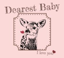 Deer Baby Daughter - I love my dear family Baby Tee