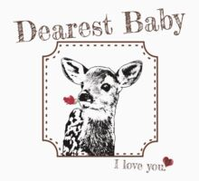 Deer Baby Daughter - I love my dear family Kids Tee