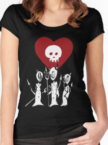 flat alkaline trio Women's Fitted Scoop T-Shirt