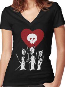 flat alkaline trio Women's Fitted V-Neck T-Shirt