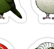Small Fat Parrots Sticker