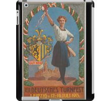 Old Poster - Sports Festival, Leipzig - Germany 1913 iPad Case/Skin