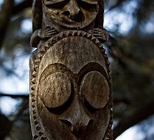Wooden Sculpture in the Sculpture Garden in Canberra/ACT/Australia (3) by Wolf Sverak
