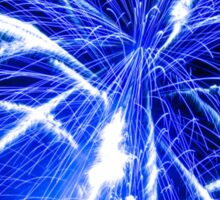 Big bright blue fireworks Sticker