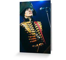 Adam Ant - Electric Ballroom 16.12.10 Greeting Card