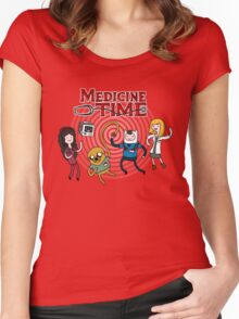 Medicine Time! Women's Fitted Scoop T-Shirt
