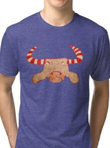 Heifer Candy Cane Water Buffalo Tri-blend T-Shirt