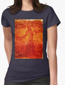 Vintage Statue Of Liberty Womens Fitted T-Shirt