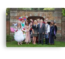 Sleeping Beauty cast with the Mayor and Deputy Mayor of Bromley Canvas Print