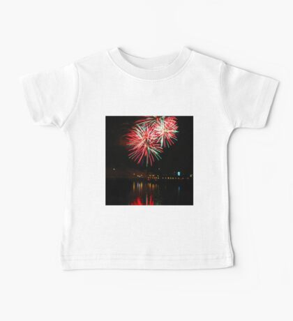 Green and red fireworks Baby Tee