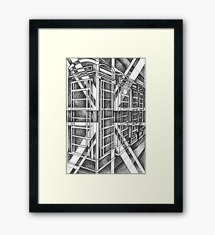 Black and White icon. Framed Print