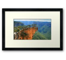 Daredevils on Hanging Rock, Blackheath. Framed Print