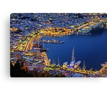 Pothia nights - Kalymnos island Canvas Print